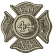 Drawing of the original firefighter's cross in it's modern form. FDNY badge, 1870