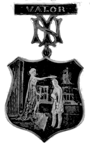The police medal designed by Louis Tiffany, which became the insignia of the New York Yankees.